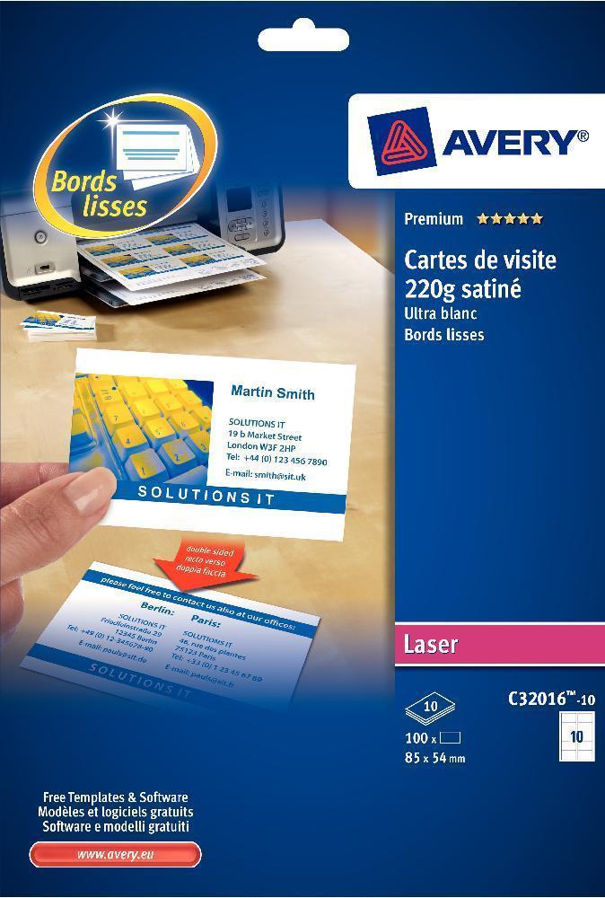 5752 EUR TTC Disponible Ajouter Au Panier Pochette De 250 Cartes Visite Laser En Planches